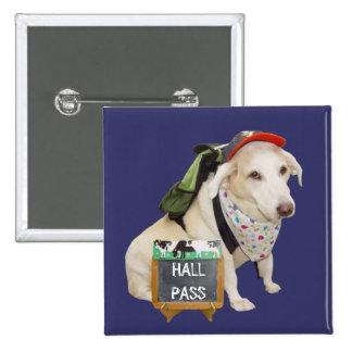 Passagem de salão bonito customizável do cão bóton quadrado 5.08cm