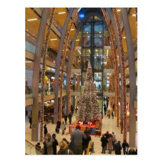 Passagem do Europa no Natal -- Hamburgo, Alemanha Cartão Postal