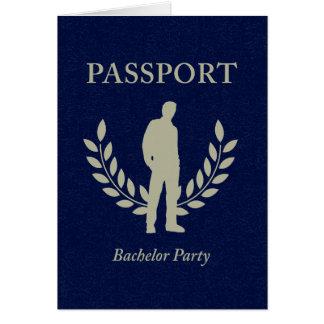 passaporte do despedida de solteiro cartão de nota