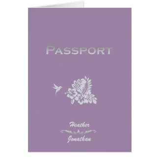 Passaporte & hibiscus do convite do casamento do