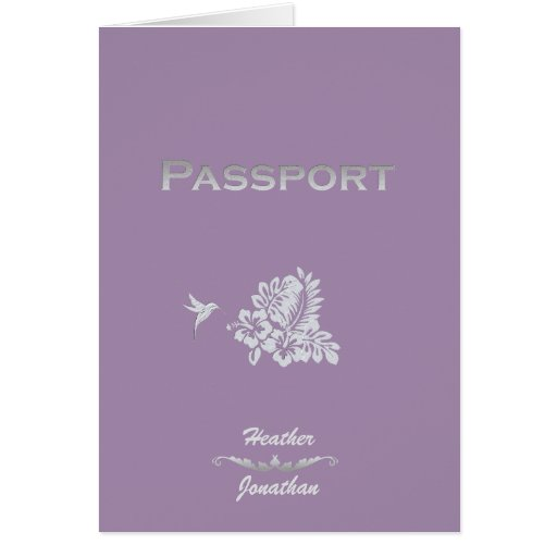 Passaporte & hibiscus do convite do casamento do d cartões