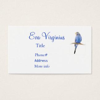 Pássaro azul cartão de visitas