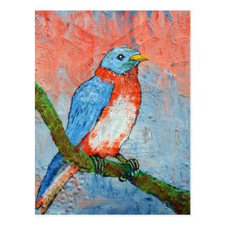 Pássaro azul cartão postal