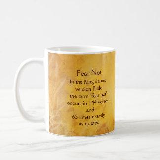 Pássaro da aguarela do incentivo do medo não caneca de café