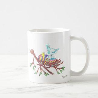 Pássaro da páscoa caneca de café