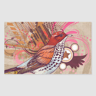 Pássaro do Grunge mim Adesivo Retangular
