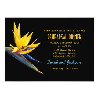 Pássaro do jantar de ensaio da praia do preto do convite 12.7 x 17.78cm