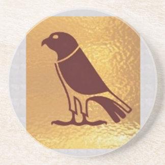PÁSSARO dourado da arte gráfica de coruja de Porta Copos De Arenito