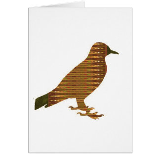 PÁSSARO dourado: PRESENTE LOWPRICE da decoração Cartão Comemorativo