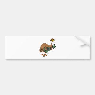 Pássaro engraçado do Emu que joga desenhos Adesivo Para Carro