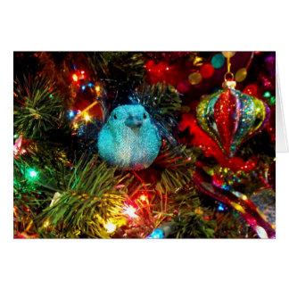 Pássaro festivo cartão comemorativo