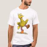 Pássaro grande da arte retro t-shirt