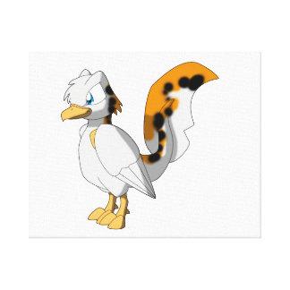 Pássaro Koi-Colorido do Reptilian Impressão Em Tela