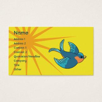 Pássaro - negócio cartão de visitas