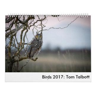 Pássaros 2017: Tom Talbott Calendário