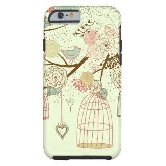 pássaros bonitos capa tough para iPhone 6