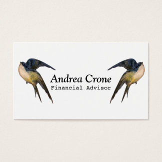 Pássaros da andorinha do vintage cartão de visitas