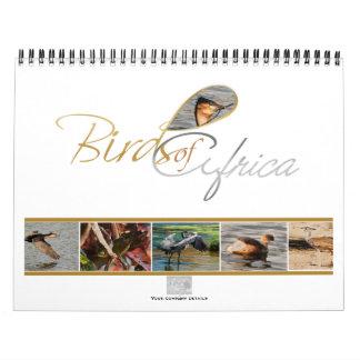 Pássaros de presentes do calendário de África -