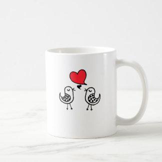 Pássaros do amor caneca de café