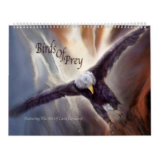 Pássaros do calendário da arte da rapina