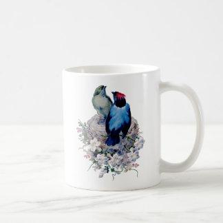 Pássaros do vintage caneca de café
