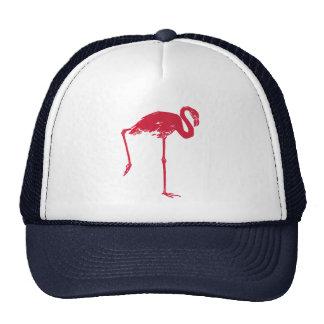 Pássaros do vintage, flamingo cor-de-rosa boné