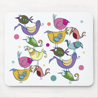 Pássaros engraçados mouse pad