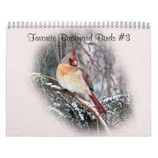 Pássaros favoritos #3 do quintal do calendário