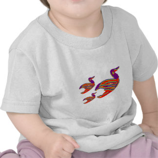 Pássaros múltiplos, desenhos animados, caricatura  tshirt