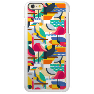 Pássaros tropicais geométricos capa incipio feather® shine para iPhone 6 plus