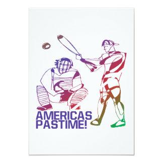 Passatempo de Americas Convite 12.7 X 17.78cm