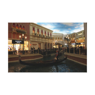 Passeio da gôndola nas canvas Venetian