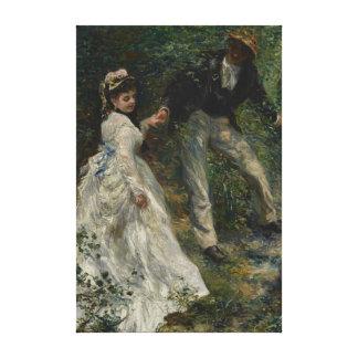 Passeio do La por belas artes de Auguste Renoir Impressão Em Tela