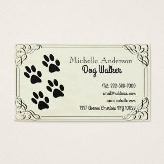 Passeio e veterinário do cão cartão de visitas