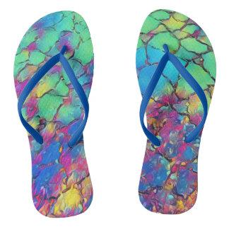 Passeio Pastel brilhante em sandálias das