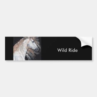Passeio selvagem pelo autocolante no vidro adesivo para carro
