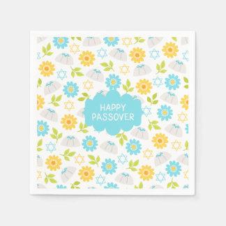 Passover floral Sedar da primavera Guardanapo De Papel