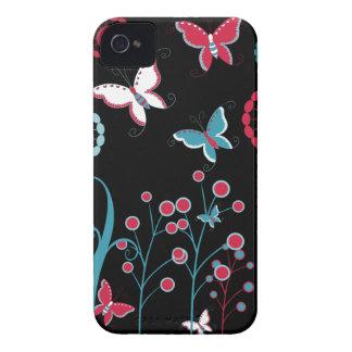 Pastel azul do rosa feminino bonito das flores de  capa iPhone 4 Case-Mate