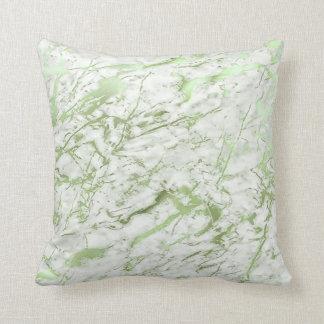 Pastel de mármore branco das hortaliças abstratas almofada