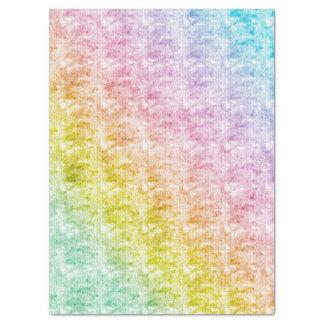 Pastels do arco-íris com textura gráfica papel de seda