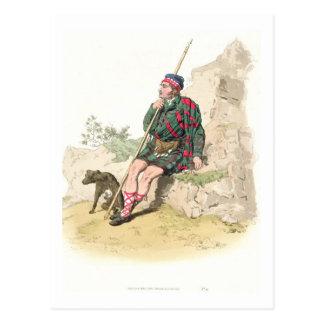 Pastor das montanhas, 'do traje de Great Britain Cartão Postal