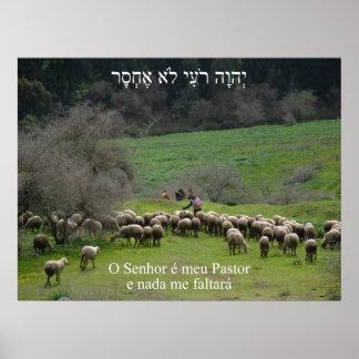 Pastor e Nada de Meu do é de O Senhor mim Faltará Posters
