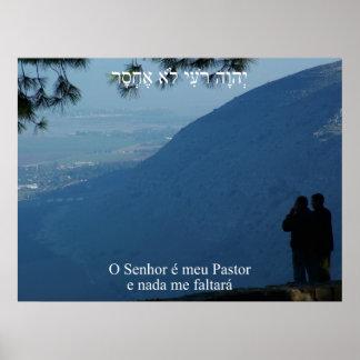 Pastor e Nada de Meu do é de O Senhor mim Faltará  Impressão