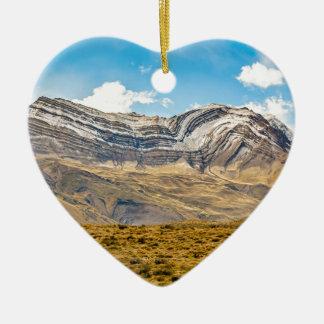 Patagonia nevado Argentina das montanhas de Andes Ornamento De Cerâmica Coração
