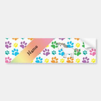 Patas conhecidas personalizadas do arco-íris do adesivo para carro