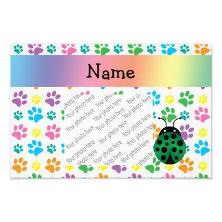 Patas conhecidas personalizadas do arco-íris do jo impressão de foto