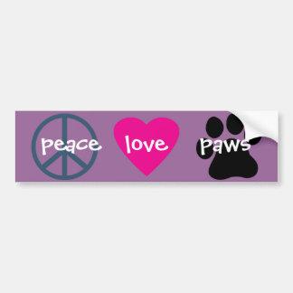Patas do amor da paz adesivo
