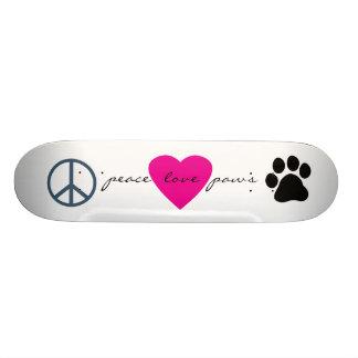 Patas do amor da paz shape de skate 18,1cm