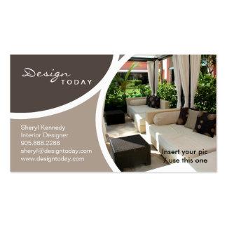 Pátio do cartão de visita do modelo do design de i