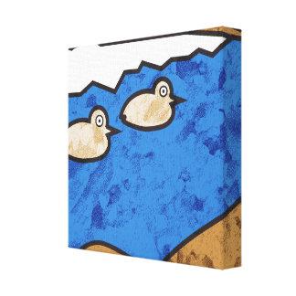 Patos do beira-mar impressão em tela